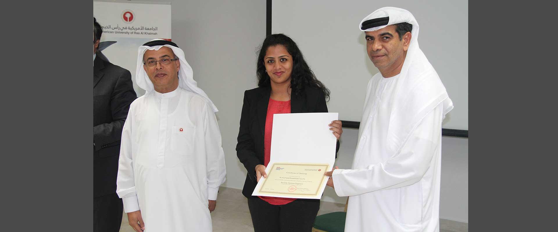 Certificate Delivery Ceremony American University Of Ras Al