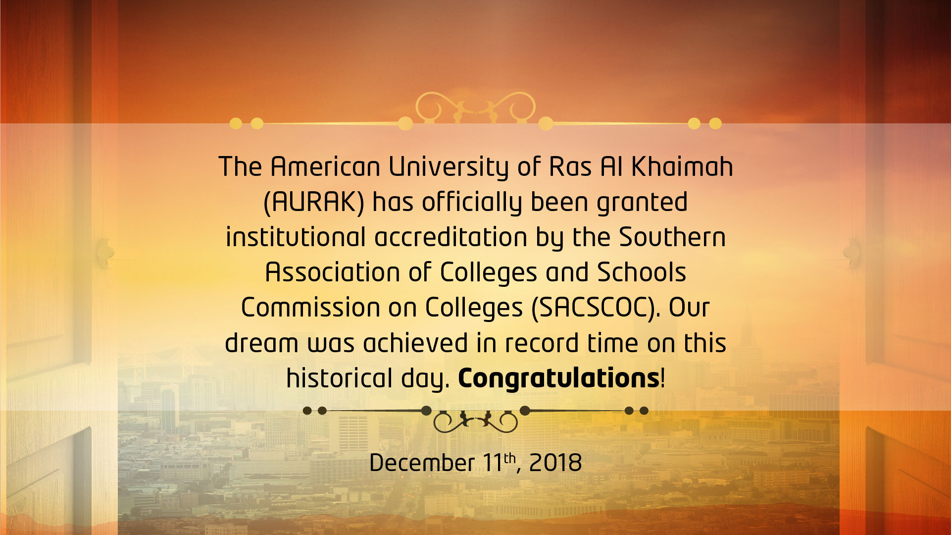 American University of Ras Al Khaimah - (AURAK)