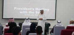 AURAK President Informs Staff of Recent, Future Developments