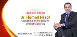 Dr. Assaf to Continue as Interim Dean of AURAK's School of Engineering