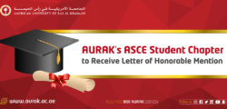 AURAK's ASCE Student Chapter to Receive Letter of Honorable Mention