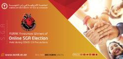 AURAK Announces Winners of Online SGA Elections Held during COVID-19 Precautions