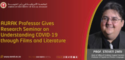 AURAK Professor Gives Research Seminar on Understanding COVID-19 through Films and Literature