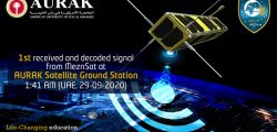 """AURAK Satellite Ground Station successfully received the first decoded signal from """"MeznSat"""""""