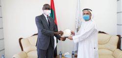AURAK receives the Ugandan ambassador
