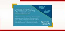 AURAK Receives Stevens Initiative funding for program to virtually connect young people around the world